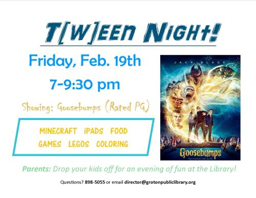Teen Night 2-19-16