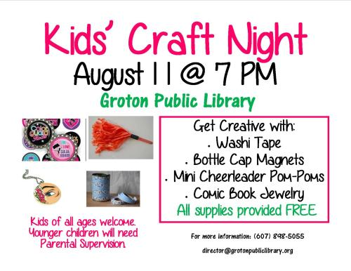 Craft Night August 2016