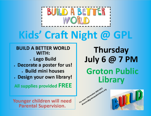 Craft night poster build a better world