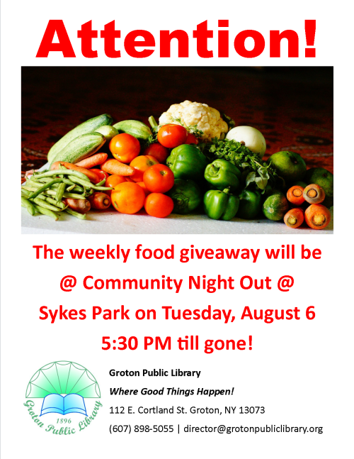 Weekly Food Giveaway
